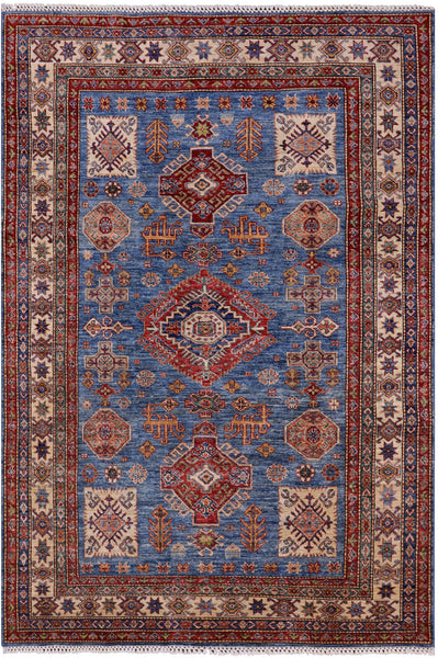 "Super Kazak Handmade Wool Rug - 5' 5"" X 7' 10"" - Golden Nile"