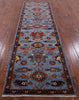 "Persian Fine Serapi Handmade Wool Runner Rug - 2' 9"" X 9' 6"" - Golden Nile"