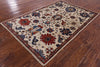 "Fine Serapi Hand Knotted Wool Rug - 3' 10"" X 6' 1"" - Golden Nile"