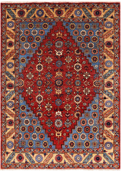 Persian Fine Serapi Handmade Wool Rug - 5' X 7' - Golden Nile
