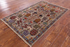 "Tribal Persian Gabbeh Handmade Wool Rug - 3' 1"" X 4' 9"" - Golden Nile"