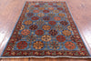 "Turkmen Ersari Hand Knotted Wool Rug - 3' X 4' 10"" - Golden Nile"