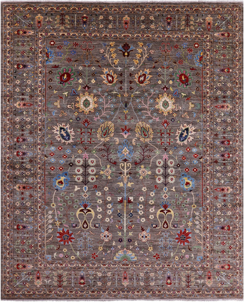 "Peshawar Hand Knotted Wool Rug - 12' X 14' 9"" - Golden Nile"