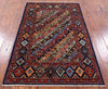 "Shall Persian Gabbeh Handmade Wool Rug - 3' 2"" X 5' - Golden Nile"
