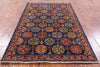 "Turkmen Ersari Hand Knotted Wool Rug - 3' 1"" X 5' - Golden Nile"