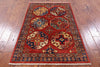 "Turkmen Ersari Handmade Wool Rug - 3' 2"" X 4' 11"" - Golden Nile"