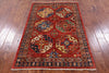 "Turkmen Ersari Handmade Wool Rug - 3' 4"" X 5' 2"" - Golden Nile"