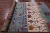 "Tribal Persian Gabbeh Handmade Wool Rug - 6' 5"" X 9' 7"" - Golden Nile"