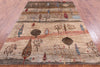 "Tribal Persian Gabbeh Handmade Wool Rug - 5' 11"" X 8' 5"" - Golden Nile"