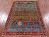 "Tribal Persian Gabbeh Hand Knotted Wool Rug - 4' X 5' 10"" - Golden Nile"