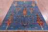 "Tribal Persian Gabbeh Handmade Wool Rug - 5' 9"" X 8' 4"" - Golden Nile"