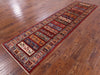 "Tribal Persian Gabbeh Handmade Wool Runner Rug - 2' 8"" X 10' 3"" - Golden Nile"