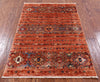 "Khorjin Persian Gabbeh Hand Knotted Wool Rug - 2' 8"" X 4' 1"" - Golden Nile"