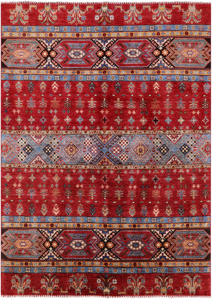 "Tribal Khorjin Persian Gabbeh Hand Knotted Wool Rug - 5' 6"" X 7' 9"" - Golden Nile"