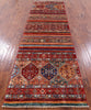 "Khorjin Persian Gabbeh Handmade Wool Runner Rug - 2' 11"" X 9' 11"" - Golden Nile"