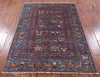"Tribal Persian Gabbeh Hand Knotted Wool Rug - 3' 5"" X 4' 10"" - Golden Nile"