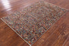 "Tribal Persian Gabbeh Hand Knotted Wool Rug - 3' 6"" X 5' 1"" - Golden Nile"