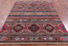 "Tribal Khorjin Persian Gabbeh Handmade Wool Rug - 5' 2"" X 6' 7"" - Golden Nile"
