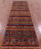 "Khorjin Persian Gabbeh Hand Knotted Wool Runner Rug - 2' 9"" X 9' 8"" - Golden Nile"