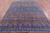 "Khorjin Persian Gabbeh Hand Knotted Wool Rug - 6' 9"" X 9' 3"" - Golden Nile"
