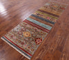 "Khorjin Persian Gabbeh Handmade Wool Runner Rug - 2' 7"" X 8' 1"" - Golden Nile"