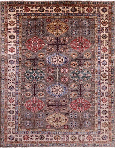 "Super Kazak Hand Knotted Wool Rug - 8' 2"" X 10' 2"" - Golden Nile"