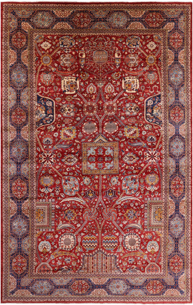 "Fine Serapi Hand Knotted Wool Rug - 11' 8"" X 18' 8"" - Golden Nile"