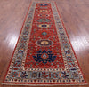 "Persian Fine Serapi Hand Knotted Wool Runner Rug - 3' 11"" X 13' 6"" - Golden Nile"