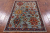 "Persian Fine Serapi Hand Knotted Wool Rug - 3' 3"" X 4' 9"" - Golden Nile"