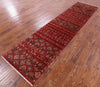 "Khorjin Persian Gabbeh Handmade Wool Runner Rug - 2' 7"" X 10' 5"" - Golden Nile"