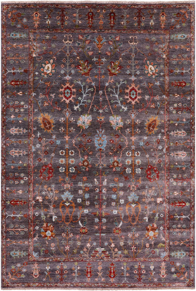 "Peshawar Hand Knotted Wool Rug - 5' 9"" X 8' 4"" - Golden Nile"