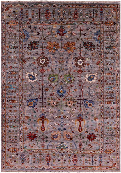 "Peshawar Hand Knotted Wool Rug - 5' 7"" X 7' 11"" - Golden Nile"