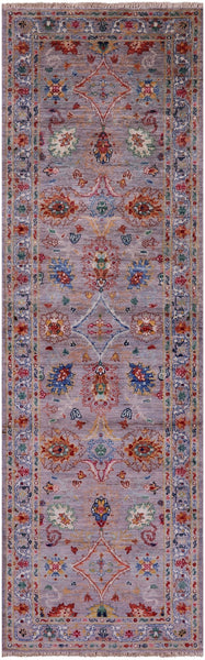 "Peshawar Hand Knotted Wool Runner Rug - 2' 7"" X 8' 2"" - Golden Nile"