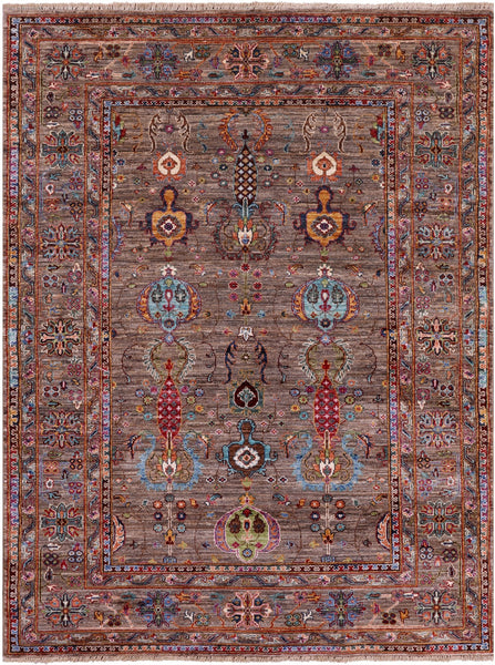 "Peshawar Hand Knotted Wool Rug - 4' 10"" X 6' 5"" - Golden Nile"