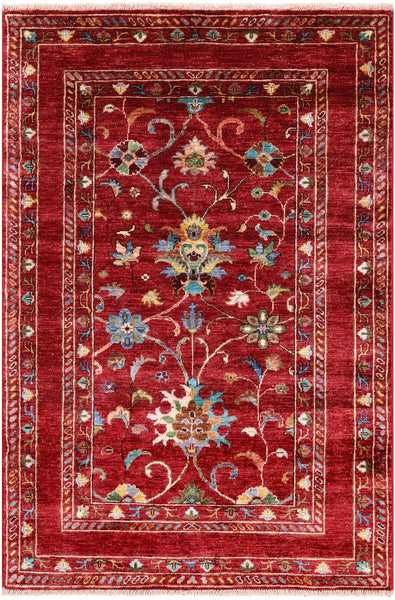 "Peshawar Hand Knotted Wool Rug - 3' 3"" X 4' 10"" - Golden Nile"