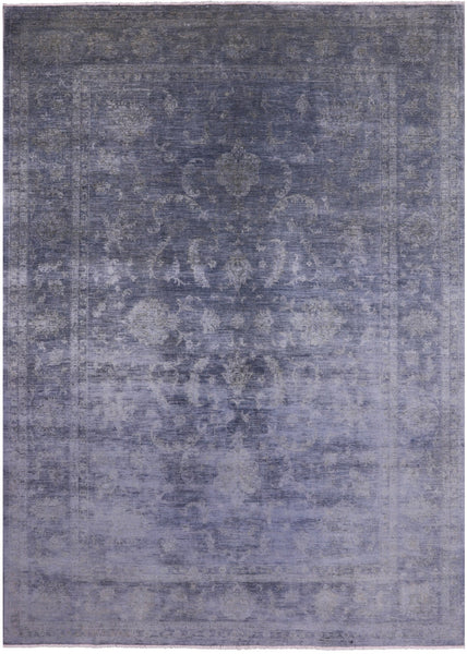 "Full Pile Overdyed Hand Knotted Wool Rug - 8' 3"" X 11' 10"" - Golden Nile"