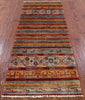 "Khorjin Persian Gabbeh Hand Knotted Wool Runner Rug - 2' 6"" X 6' 2"" - Golden Nile"