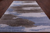 "Modern Hand Knotted Silk Rug - 9' 1"" X 11' 11"" - Golden Nile"