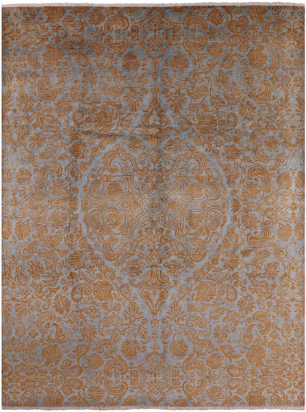 "William Morris Hand Knotted Wool Rug - 9' X 11' 9"" - Golden Nile"
