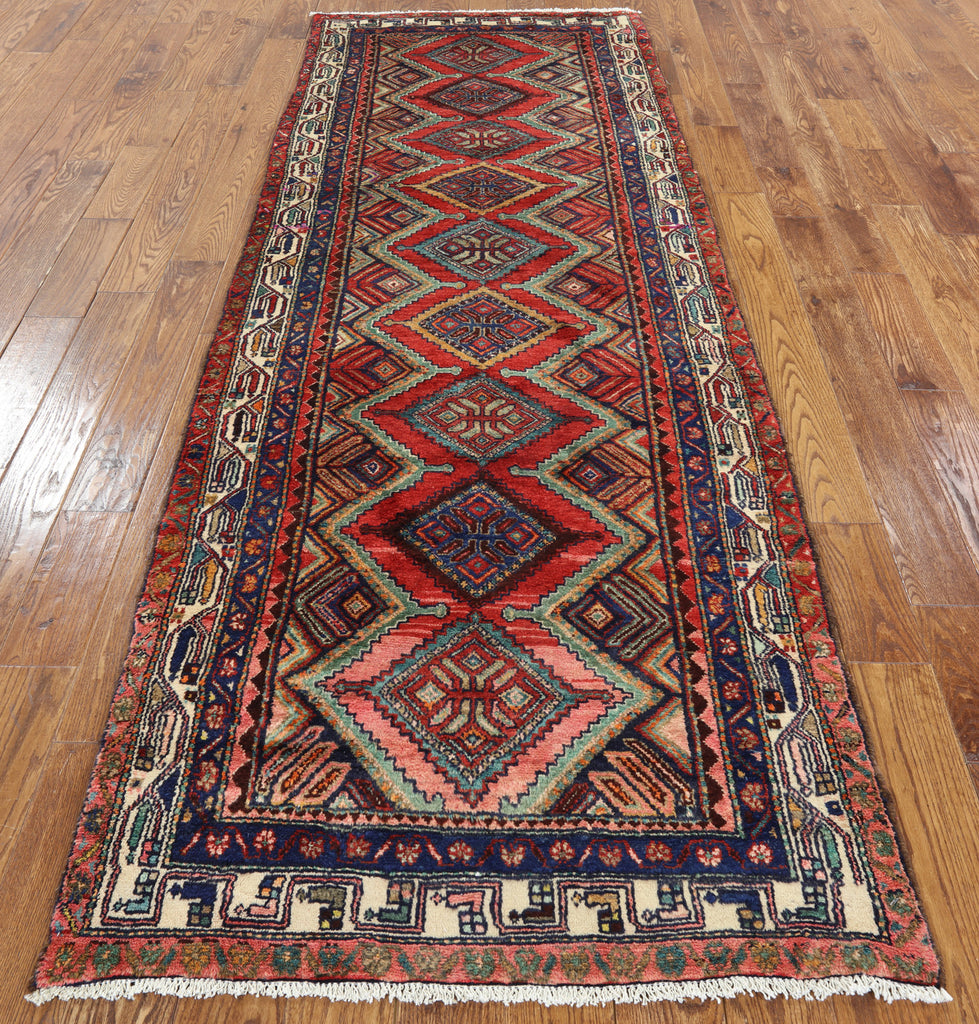 ... New Persian Hamadan Hand Knotted 4 X 10 Runner Rug   Golden Nile ...
