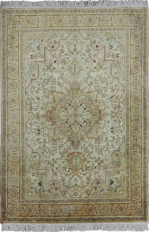 New 5 X 7 Authentic Persian Tabriz Area Rug
