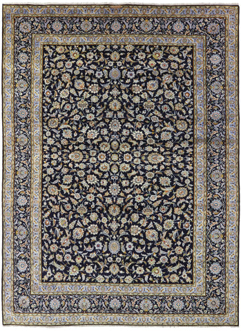 New Authentic Signed Persian Kashan Rug 10' 4