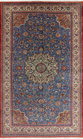 Fine Sarouk Persian Hand Knotted Area Rug - 10' 0