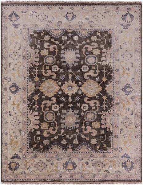 "Oushak Hand Knotted Rug - 8' 2"" X 10' 2"" - Golden Nile"