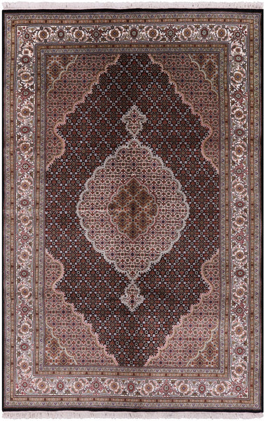 "Bijar Hand Knotted Wool & Silk Rug - 6' 5"" X 10' - Golden Nile"