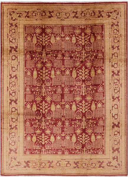 "Peshawar Hand Knotted Rug - 8' 10"" X 12' 5"" - Golden Nile"
