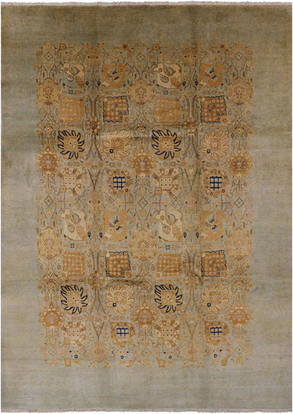 "Peshawar Hand Knotted Area Rug - 8' 10"" X 12' 3"" - Golden Nile"
