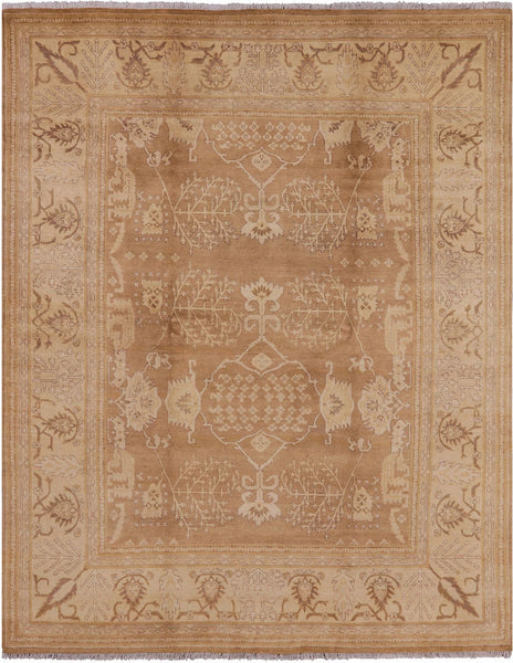 "Peshawar Handmade Wool Area Rug - 8' 1"" X 10' 2"" - Golden Nile"