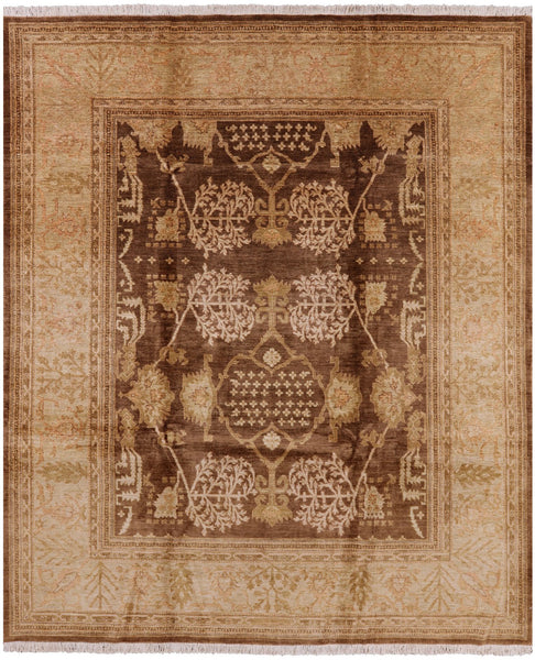 8 X 10 Oriental Chobi Hand Knotted Wool Rug - Golden Nile