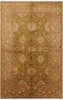 Green Oriental Collection 6 X 9 Peshawar Rug - Golden Nile